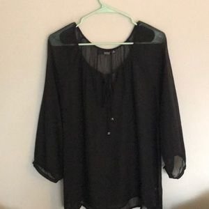 NWT!  Made by a.n.a. Dressy sheer peasant blouse